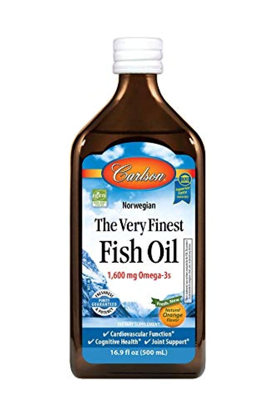 ビリー愚かシーズンCarlson Labs Very Finest Liquid Fish Oil, Orange, 500ml by Carlson Laboratories