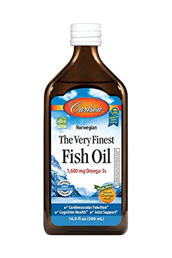 キャベツ悪性腫瘍線形Carlson Labs Very Finest Liquid Fish Oil, Orange, 500ml by Carlson Laboratories