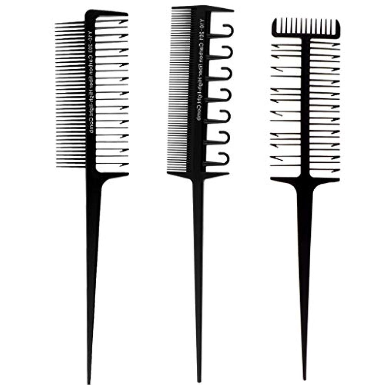 プロトタイプタンザニアを必要としていますPerfeclan 毛染めコーム 髪染め用ヘアコーム 3本セット ヘアダイブラシ DIY髪染め用 サロン 美髪師用染髪ツール