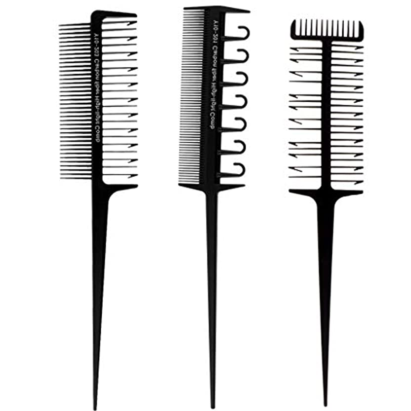 製造満たす発見Perfeclan 毛染めコーム 髪染め用ヘアコーム 3本セット ヘアダイブラシ DIY髪染め用 サロン 美髪師用染髪ツール