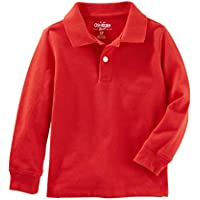 Osh Kosh Boys' Kids Long Sleeve Uniform Polo
