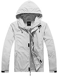 zshowメンズ軽量外側Wearウィンドブレーカー防風Sandproof Packable Jacket with Foldingフード