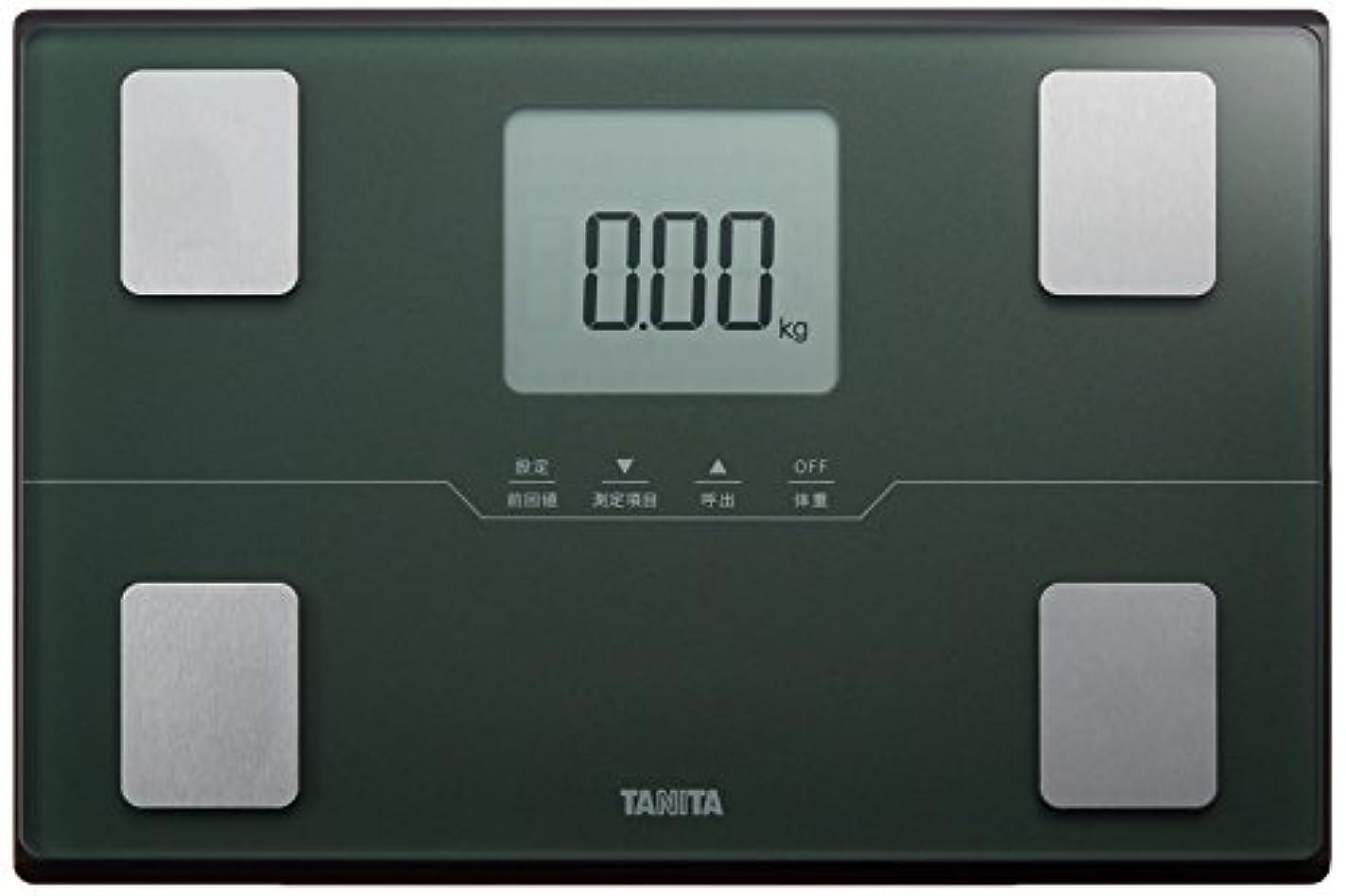 入射細部のスコアタニタ 体重 体組成計 50g グリーン BC-315 GR 自動認識機能付き/立掛け収納OK