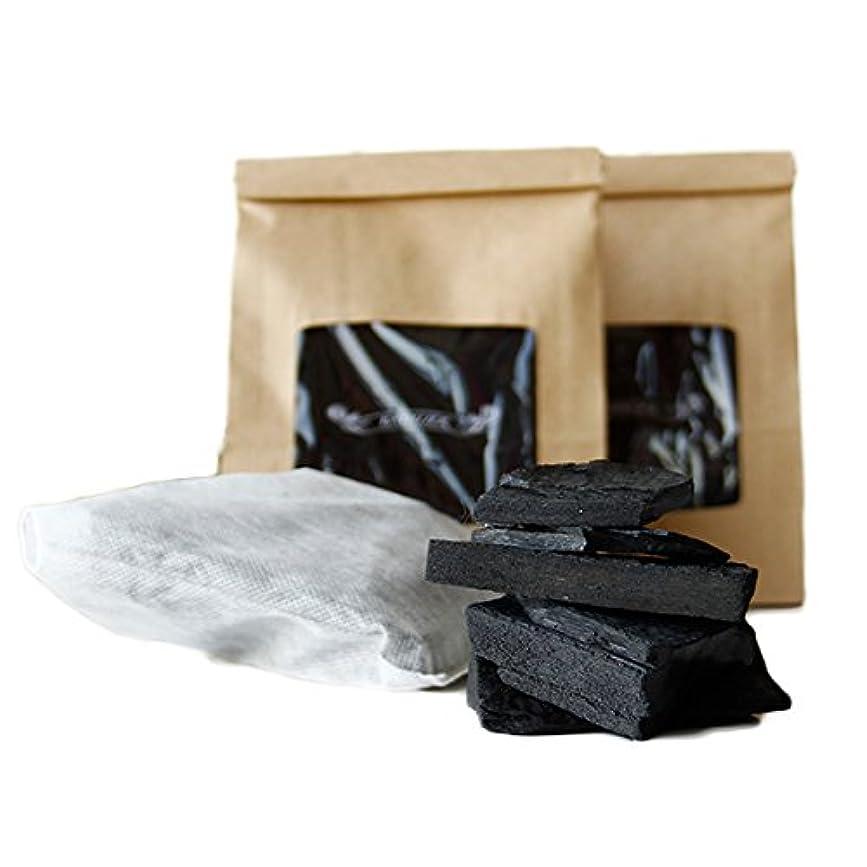 咽頭準備する染料お風呂に入れるだけ!お風呂の炭(光触媒の浴用炭)[2袋セット]