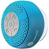 TaoTronics お風呂専用 スピーカー 吸盤式Bluetooth 3.0 ワイヤレススピーカー マイク搭載(防水仕様) A2DP/AVRCP対応 TT-SK03 (ブルー)