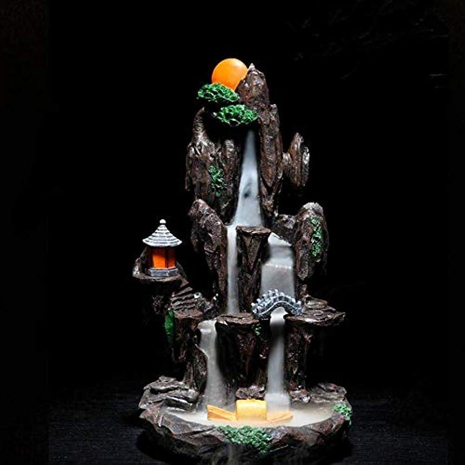 才能のあるアパルエンドウ逆流香バーナーホルダーセラミック香コーンバーナーホームオフィス装飾工芸品