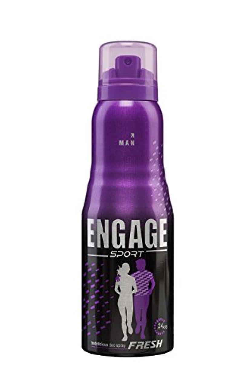 失敗矩形実験的Engage Sport Fresh Deodorant Spray For Men, 150ml / 165ml (Weight May Vary)