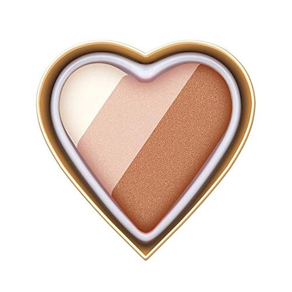 Florrita 女性 ハート型 アイシャドー パレット 優しい色 レインボー色 愛の少女系 ハイライトパウダー アイシャドー 発色が素晴らしい アイシャドウパレット シャドー ブラッシュ 携帯便利 プレゼント (A)