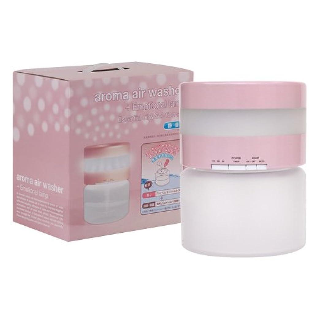 水っぽいクラック投げ捨てる空気洗浄器 アロマエアウォッシャー + エモーショナルランプ ピンク