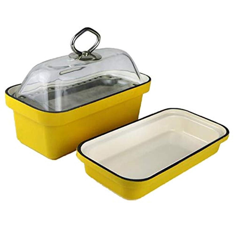 難破船受け皿肩をすくめる長方形の鋳鉄黄色ベーキングトレイパンオーブン食器洗い機金庫23 cm * 12 cm * 12 cm