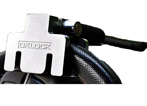 Quoll ハンドルロック 盗難防止 車 簡単設置 ステアリングロック 高強度ステンレス 鍵2本付き