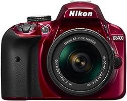 Nikon デジタル一眼レフカメラ D3400 AF-P 18-55 VR レンズキット レッド D3400LKRD クリーニング クロス付き
