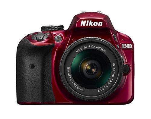 Nikon デジタル一眼レフカメラ D3400 AF-P 18-55 VR レンズキット レッド D3400LKRD