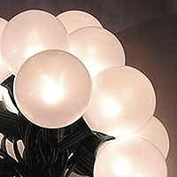 Set of 15 White Pearl G50 Globe Christmas Lights - Green Wire - [並行輸入品]