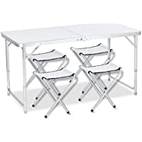 DesertFox アウトドア 折りたたみ テーブル 120×60×(40-50-70) cm 3WAY 自由に高さ調整可能 ピクニック レジャー キャンプ 用