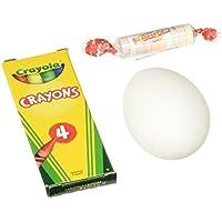 Crayola落書き卵カラーとフィルエッグハント、4クレヨン、10卵、10 SmartiesキャンディRolls
