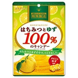 扇雀飴本舗 はちみつとゆず100%のキャンデー 51g×6袋入×(2ケース)