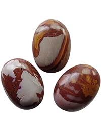 [yuteng] 10つセット オーストラリア ピクチャージャスパー 卵形 天然石 ルースストーン ペンダント ビーズ ネックレス リング