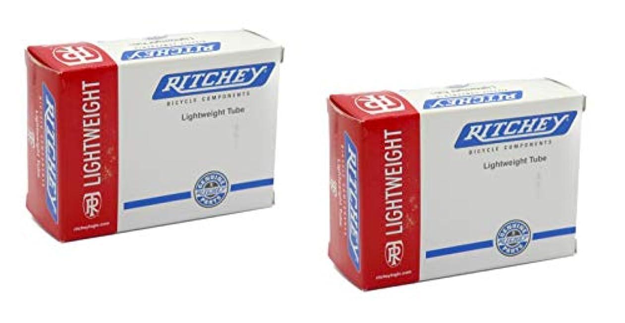 シティひまわりサークル2本セット Ritchey(リッチー)ライトウェイト チューブ 26×1.0-1.25/1.5 仏式バルブ Lightweight Tube [並行輸入品]