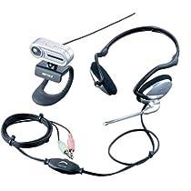iBUFFALO  Webカメラ Cmos130万画素 マイク内蔵 ヘッドセット付 シルバー BWC130MH05SVA