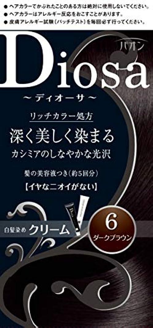 欠如旋律的佐賀パオン ディオーサ クリーム 6 ダークブラウン 40g+40g 髪の美容液10g