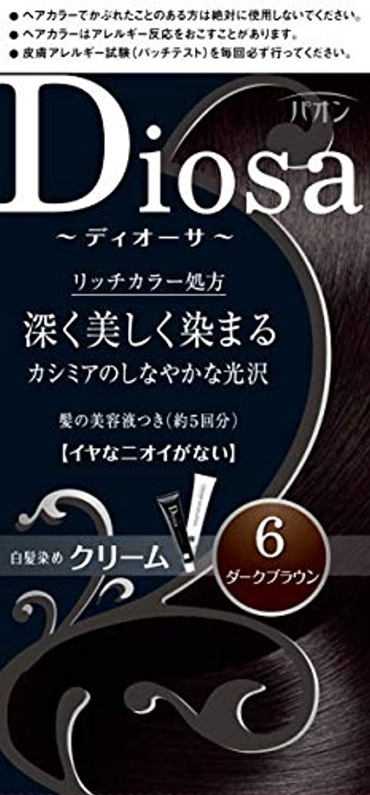 パオン ディオーサ クリーム 6 ダークブラウン 40g+40g 髪の美容液10g