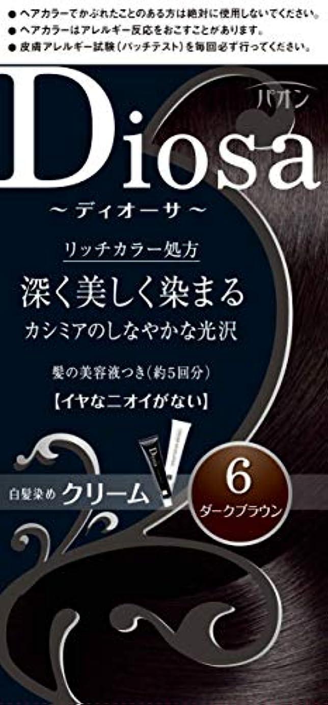 適度に不公平北東パオン ディオーサ クリーム 6 ダークブラウン 40g+40g 髪の美容液10g
