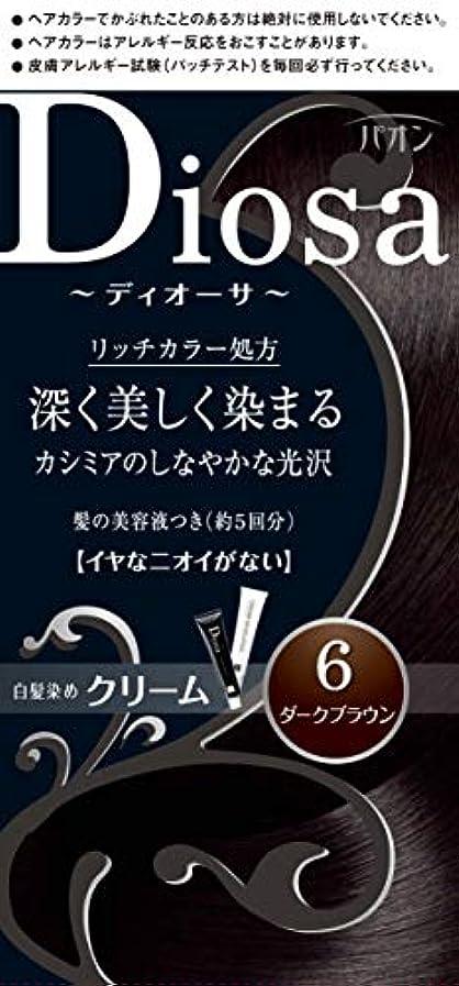 学校の先生の配列ブランド名パオン ディオーサ クリーム 6 ダークブラウン 40g+40g 髪の美容液10g