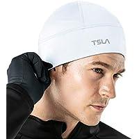 Tesla Skull Cap Thermal Fleece Line Active Beanie Helmet Liner Unisex (1,2 Pack) YZC