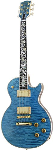 Gibson CUSTOM SHOP Custom Crimson Les Paul Ultima Tree of life 5A Quilt Maple Top/Mahogany Back Chambered Aqua Blue 【SN.CS600241】