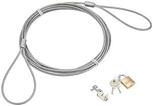 サンワサプライ パソコンセキュリティワイヤーロック(南京錠) SL-57