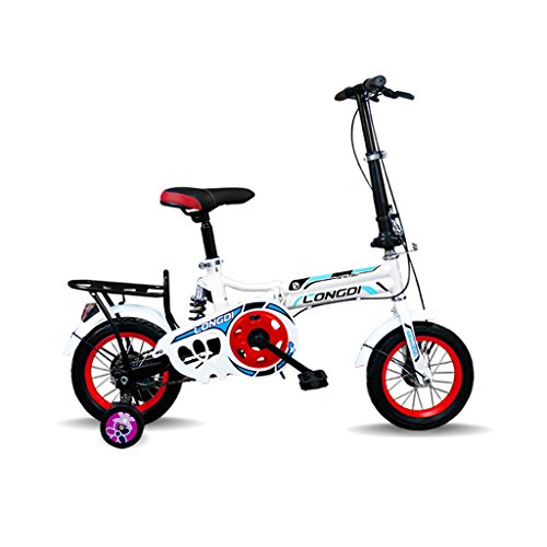 ALUP- チャイルドフォールド自転車3-6-8歳のベビーベビーカー12インチ16インチバイク (色...