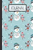 """Journal: Winter Raccoon SnowmanLined 120 Page Journal (6""""x 9"""")"""