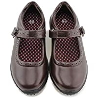 JABASIC Girls Mary Jane Dress Shoes Strap School Uniform Flats