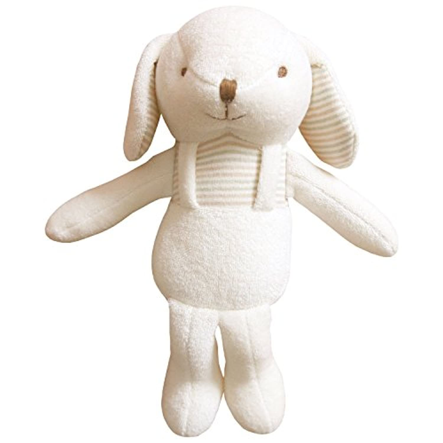 (Lovely Puppy)100% Certified Organic Cotton Fabric . Baby First Doll 11 inches (No Dyeing Natural Organic Cotton) by JOHN N TREE Organic