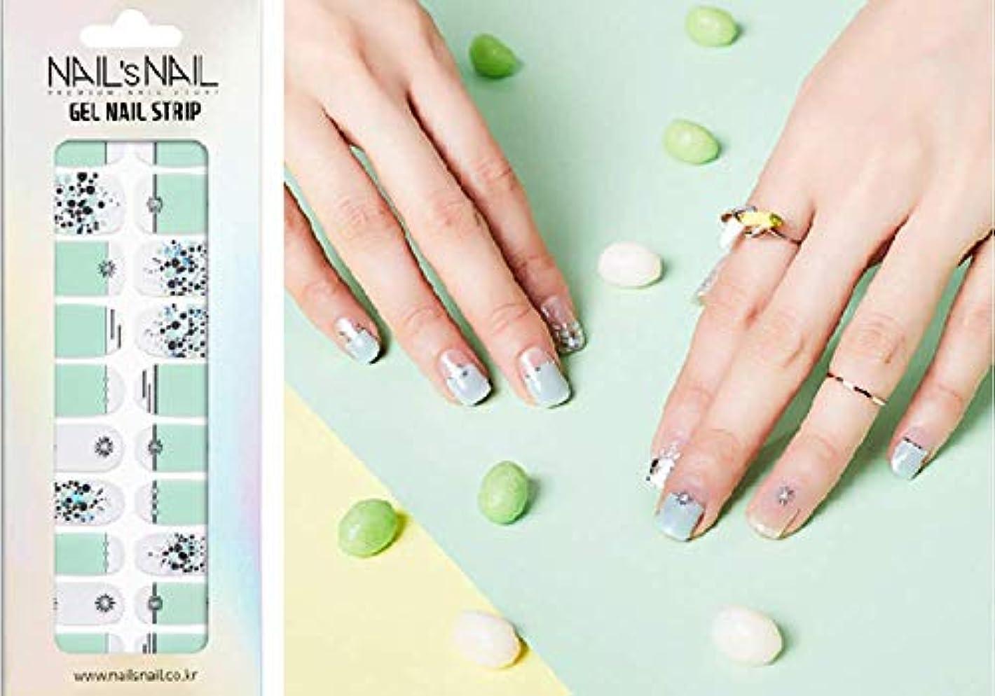 うっかり関数ウィンク\貼るジェルネイル/Nail's Nail(ネイルスネイル) ジェルネイルストリップ 104