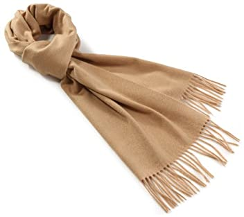 Cashmere Solid Scarf 1436-699-1390: Beige