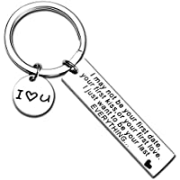 Proposal Gift For girlfriend Boyfriend I May Not Be Your First Date Keychain Couples Love Lettering Keychain Valentine's Day Gifts for Wife Husband Couples Birthday Gift For Him Or Her