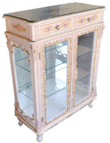 輸入家具:ロココ調2面コレクションキャビネットAR613