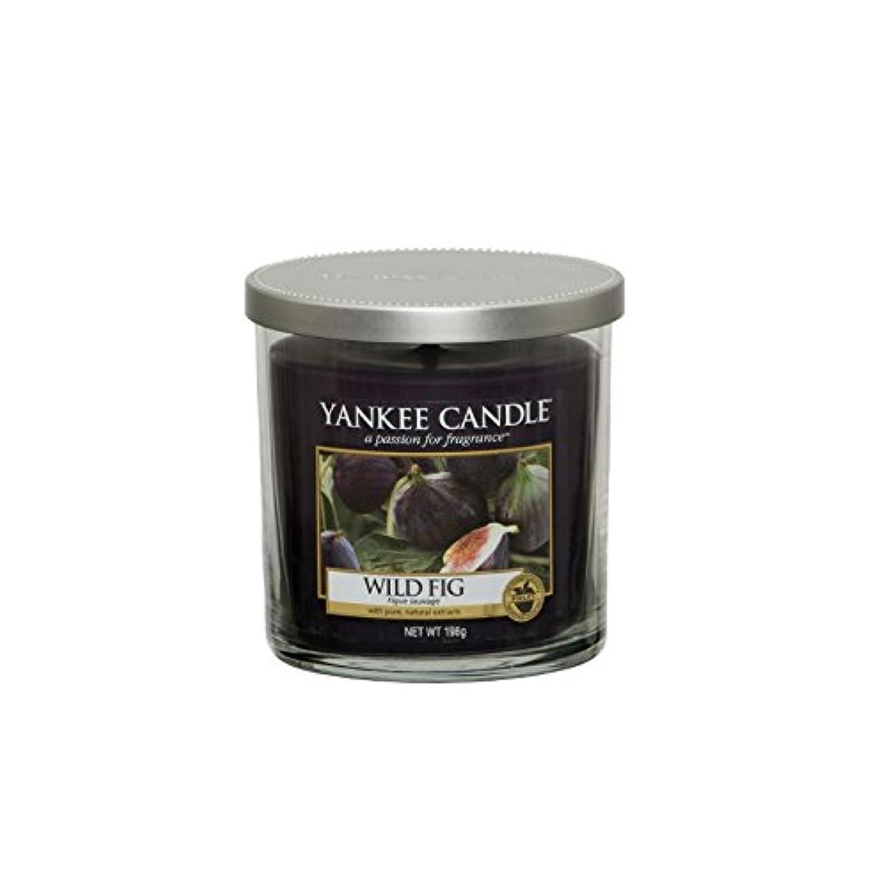 お尻小石のどヤンキーキャンドルの小さな柱キャンドル - 野生のイチジク - Yankee Candles Small Pillar Candle - Wild Fig (Yankee Candles) [並行輸入品]