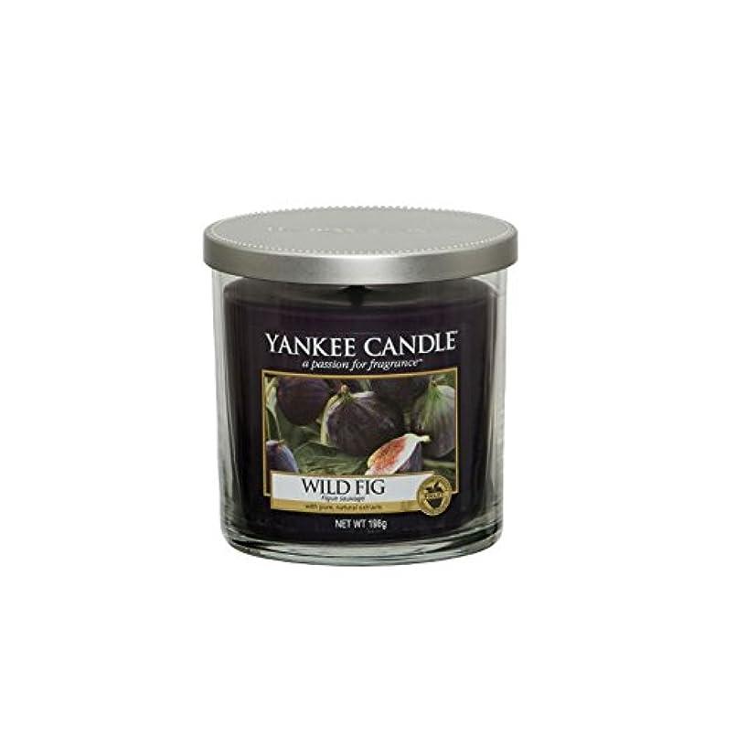 ヤンキーキャンドルの小さな柱キャンドル - 野生のイチジク - Yankee Candles Small Pillar Candle - Wild Fig (Yankee Candles) [並行輸入品]