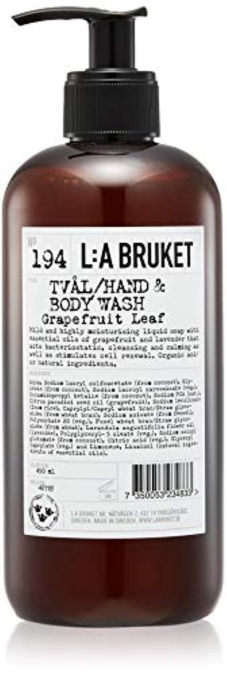 涙侵入華氏L:a Bruket (ラ ブルケット) ハンド&ボディウォッシュ (グレープフルーツリーフ) 450g