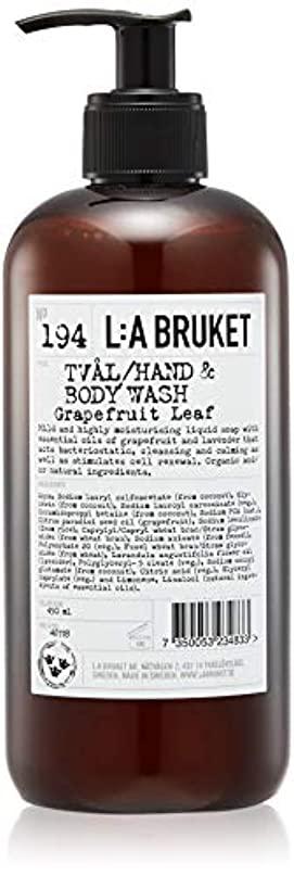 破裂月曜日鋭くL:a Bruket (ラ ブルケット) ハンド&ボディウォッシュ (グレープフルーツリーフ) 450g