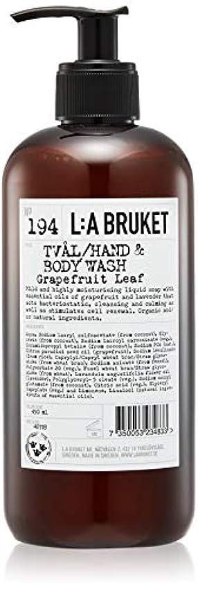 祖先可動式オーディションL:a Bruket (ラ ブルケット) ハンド&ボディウォッシュ (グレープフルーツリーフ) 450g