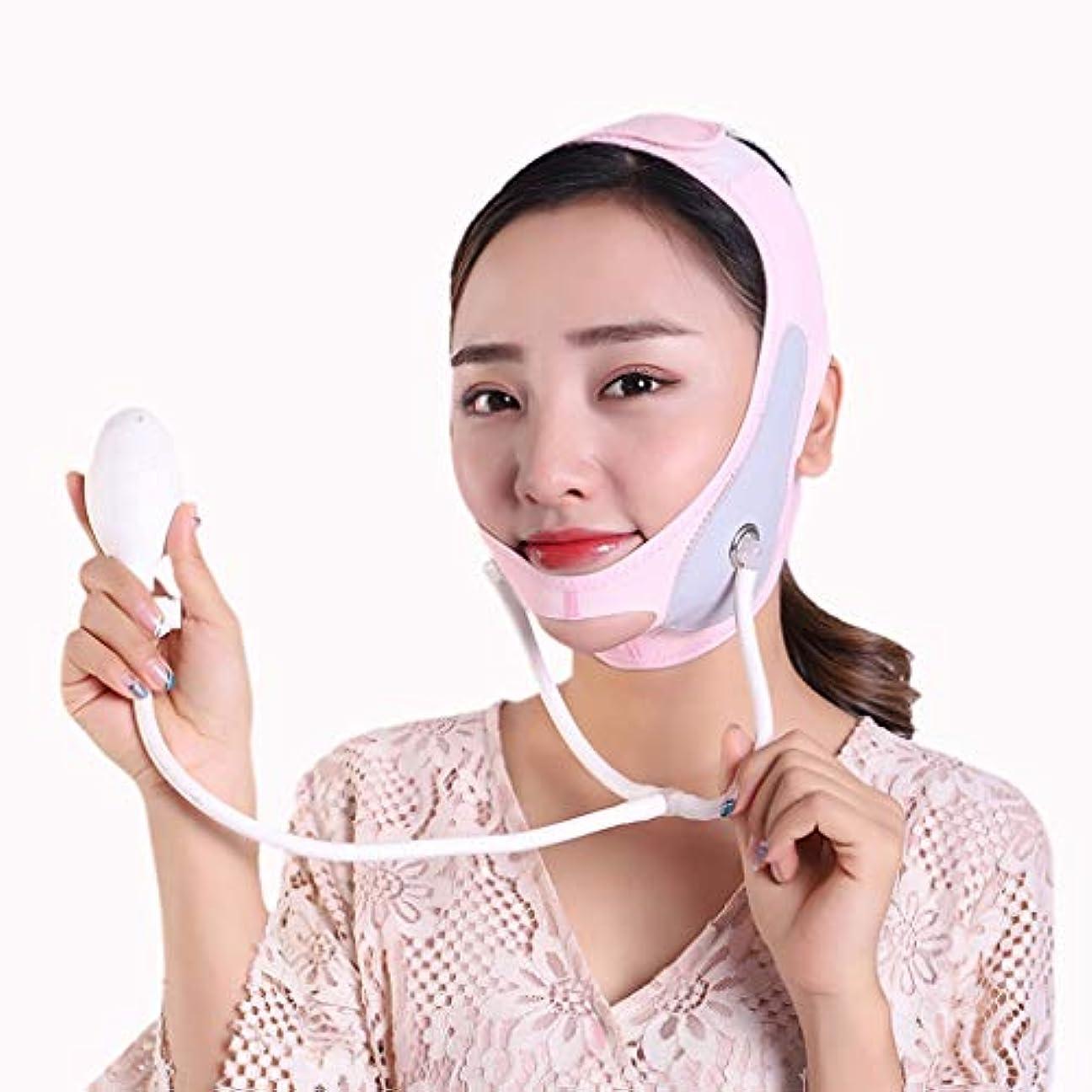 高音ヘア与えるXHLMRMJ インフレータブルフェイスリフティングマスク、リフティングと締め付け、フェイスリフティング包帯、二重あごと薄いフェイスバンド (Size : M)