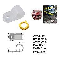 ACHICOO ステンレス ネジ ナンバーチューブケーブル マーカー付き 50パック 3/16インチ ロープライト Rスタイル 取り付けクリップ