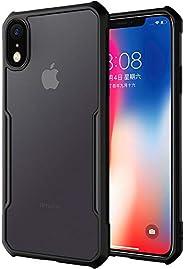 iPhone XR ケース ソフト TPU 落下保護 米軍MIL規格 耐衝撃 ストラップホール付き ワイヤレス 充電対応 透明 クリア 軽量 薄型 ブランド 正規品 (ブラック)