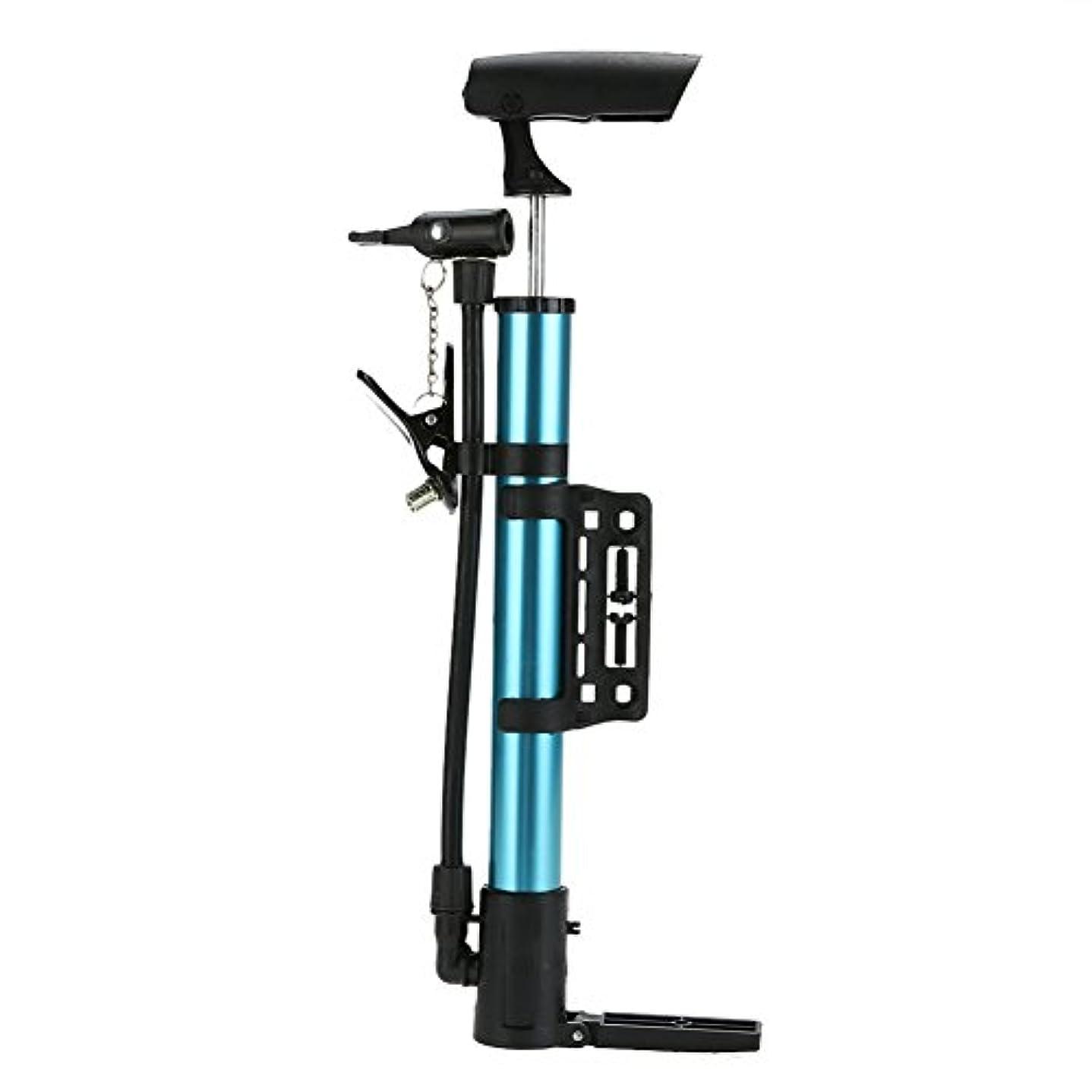 ライター甘くする不可能なミニポータブル軽量biketireインフレータアルミニウム合金mtbサイクリングバイクタイヤ空気バイクアクセサリー_青