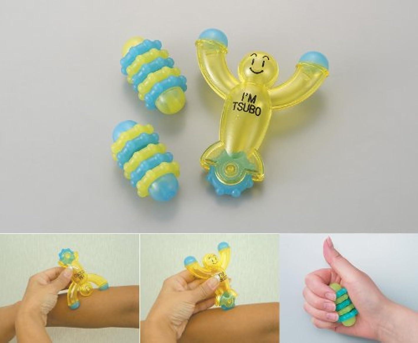 くびれた取り組むたぶんツボ押しツボローラー、手のひら健康具 ■ゆったり健康セット6