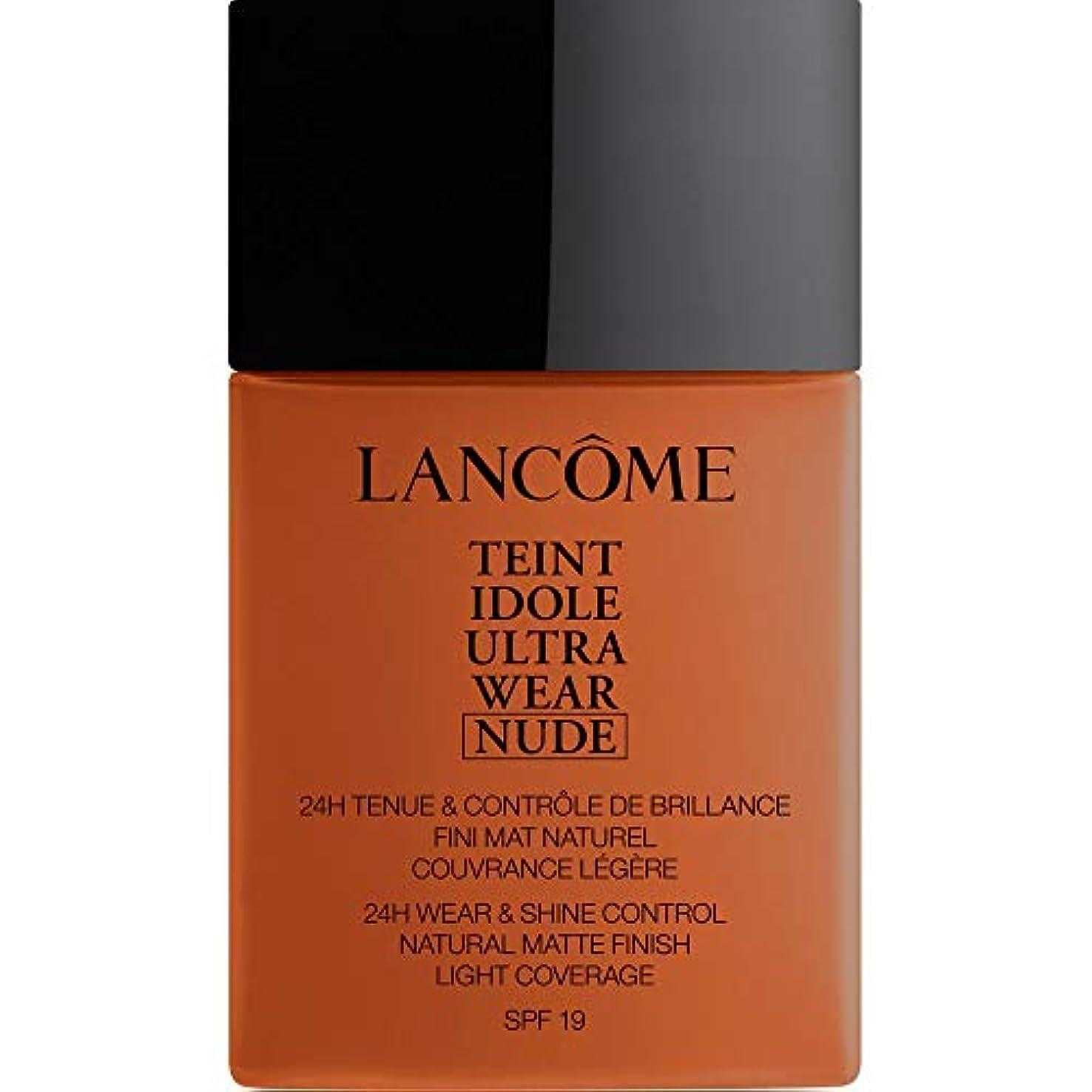 トランスペアレントマイコン弾性[Lanc?me ] ランコムTeintのIdole超摩耗ヌード財団Spf19の40ミリリットル13 - Sienne - Lancome Teint Idole Ultra Wear Nude Foundation SPF19 40ml 13 - Sienne [並行輸入品]